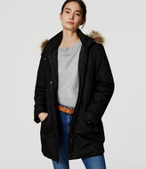 LOFT Home /a> Jackets & Blazers Petite Faux Fur Trim Parka Petite Faux Fur Trim Parka