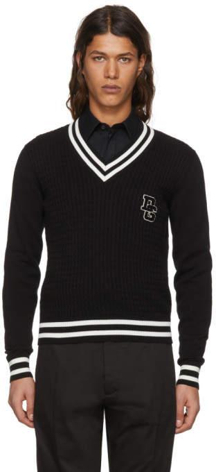 Dolce & Gabbana Black Varsity Logo Pullover