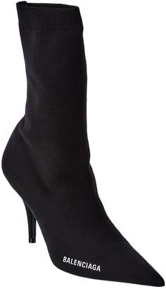 Balenciaga Logo Knit Boot