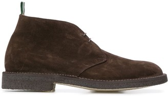 Green George Lace-Up Desert Boots