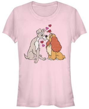 Fifth Sun Women's Lady and the Tramp Puppy Love Short Sleeve T-shirt