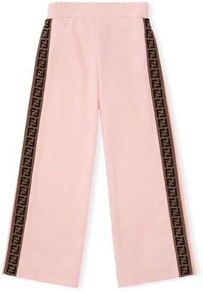 Fendi FF logo motif trousers