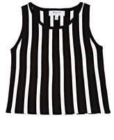 Milly Striped Compact Knit Sleeveless Top