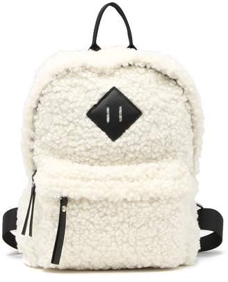 Madden-Girl Faux Shearling Mini Backpack
