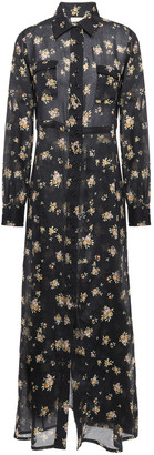 By Ti Mo Floral-print Cotton-gauze Maxi Shirt Dress