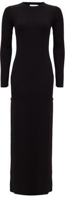 Matteau The Long Sleeve Knit Maxi Dress - Black