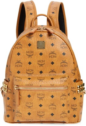 MCM Small Stark Viestos Coated Canvas Backpack
