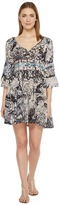 Brigitte Bailey Mahalia Printed V-Neck Dress