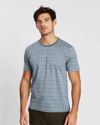 Cerruti Short Sleeve Crosshatch T-Shirt