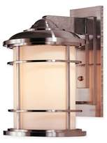 Feiss Lighthouse Outdoor 14.5-Inch Wall Sconce in Brushed Steel