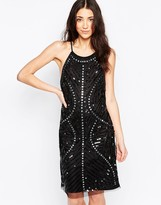 Glamorous Beaded Pencil Dress