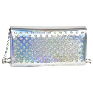 Christian Louboutin Silver Patent leather Clutch bags