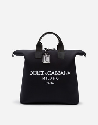 Dolce & Gabbana Technical Neoprene Palermo Bag With Printed Logo