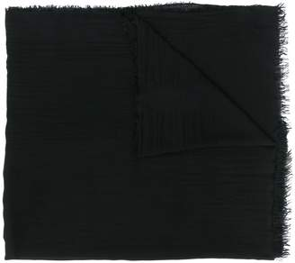 Faliero Sarti fine knit frayed edge scarf