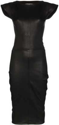 Rick Owens Sarah stretch-leather midi dress