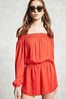 Forever 21 Satin Off-the-Shoulder Romper