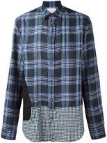 Maison Margiela contrast hem checked shirt - men - Cotton/Linen/Flax - 48