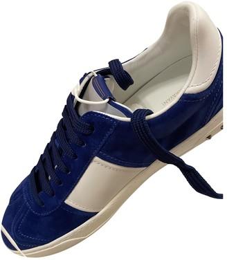Valentino Rockstud Blue Suede Trainers