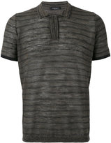 Roberto Collina striped polo shirt - men - Cotton/Linen/Flax/Polyester - 46