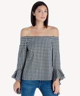 Sole Society Off Shoulder Cascade Sleeve Top