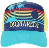 DSQUARED2 Sunset Printed Canvas & Mesh Trucker Hat
