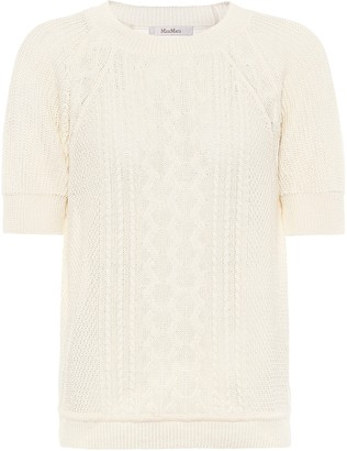 Max Mara Austero knitted linen shirt