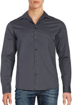 Selected Neat Print Button Sportshirt