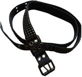 Balmain Black Cloth Belt