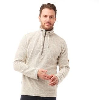 Trespass Falmouthfloss Mens Knitted 1/2 Zip Fleece Jacket Off White
