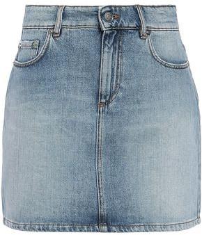 Ganni Faded Denim Mini Skirt