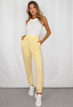 Missguided Petite Yellow Oversized 90'S Joggers