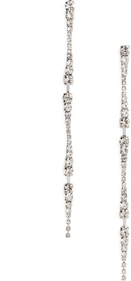 CRISTABELLE Mirror Stick Crystal Linear Earrings