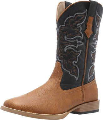 Roper Men's Square Toe Cowboy Boot Tan 9.5 D - Medium