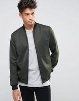 New Look New Look Smart Bomber Jacket In Dark Khaki