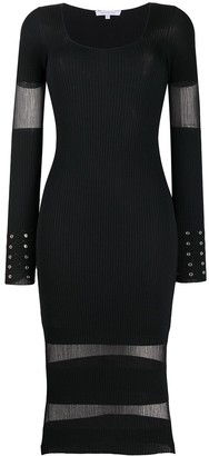 Patrizia Pepe Sheer Detail Knitted Dress