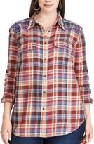 Chaps Plus Size Plaid Cotton Work Shirt