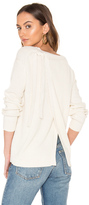 Vince Long Sleeve Slit Back Sweater