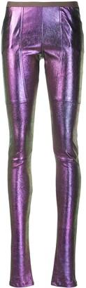 Rick Owens metallic skinny trousers