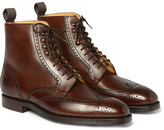 George Cleverley - Bryan Leather Brogue Boots - Chocolate