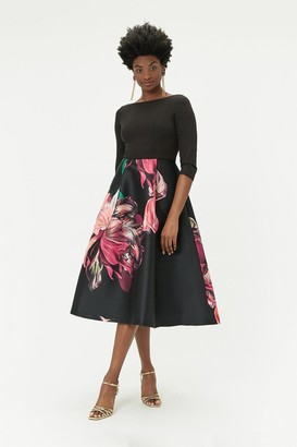 Coast Printed Full Skirt Midi Dress