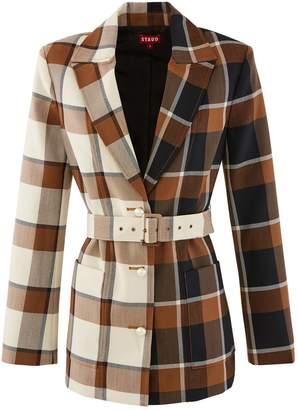 STAUD Pepper wool blend coat