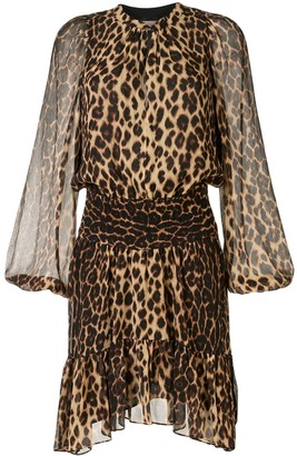 A.L.C. Sidney leopard print silk dress