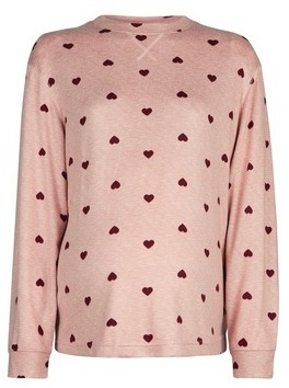 Dorothy Perkins Womens Dp Maternity Pink Heart Twosie Top, Pink