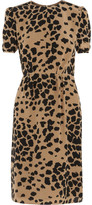 Burberry Animal-print silk dress
