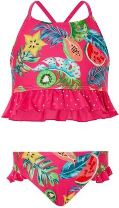 Monsoon Inna Frill Bikini - Pink