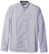 Kenneth Cole New York Men's Long Sleeve Mini Stripe Shirt