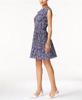MICHAEL Michael Kors Textured Paisley-Print Dress