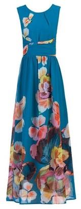 Dorothy Perkins Womens *Jolie Moi Blue Floral Print Chiffon Maxi Dress, Blue
