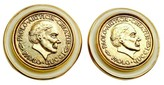 Gucci Rare Paolo Gold Roman Coin Clip On Earrings