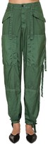 Jil Sander Silk & Nylon Canvas Cargo Pants